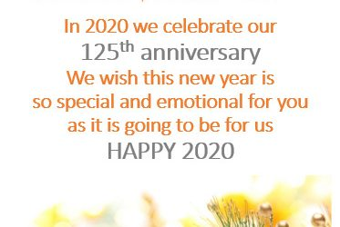 Happy New Year 2020 with our best wishes!