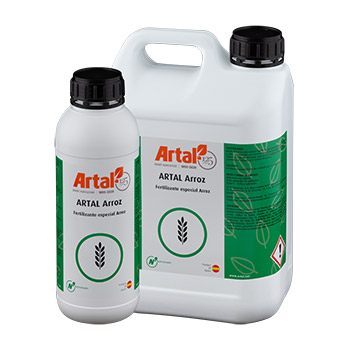 ARTAL Rice is a liquid mixture of micronutrients, Boron, Molybdenum and Zinc enriched with specially selected amino acids