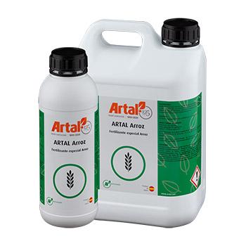 ARTAL ARROZ es una mezcla líquida de micronutrientes, Boro, Molibdeno y Cinc, enriquecida con aminoácidos