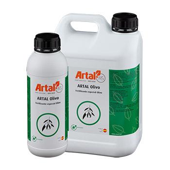 ARTAL OLIVO es un fertilizante foliar con una fórmula equilibrada en Nitrógeno, Hierro y Magnesio