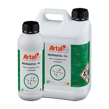 NUTRIARTAL +Fe es un complejo de microelementos, con una fórmula equilibrada en Hierro, Manganeso y Cinc presentes en forma 100% complejada
