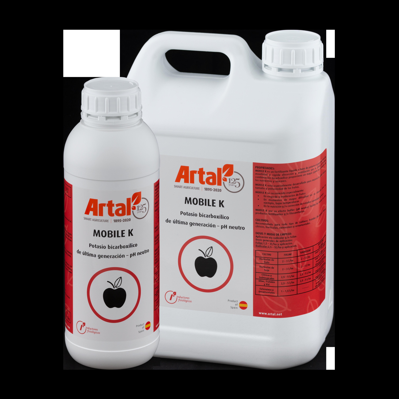 MOBILE K es un fertilizante líquido a base de potasio orgánico de alta movilidad y rápida absorción y asimilación